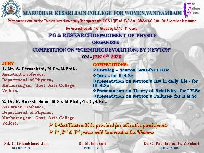Physics-Competition on Scientific Revolutions by Newton,04-01-2021