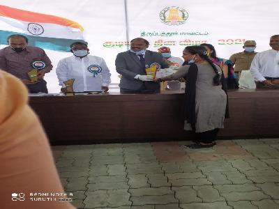 Our College Students Received the Prizes from District Collector, Tirupattur.26-01-2021