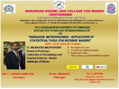 Commerce -  One day International Level Faculty Development Programme on