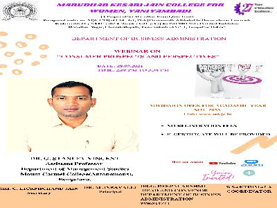 """Business Administration -  Webinar on """"Consumer Prospects and Perspectives"""""""